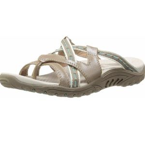 Skechers Womens Soundstage Taupe Slides Size 5